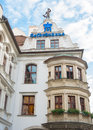 Exterior of famous hofbrauhaus munich germany august historic brewery founded in where february hitler gave you one his first Royalty Free Stock Photo