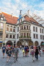 Exterior of famous hofbrauhaus munich germany august historic brewery founded in where february hitler gave you one his first Royalty Free Stock Image