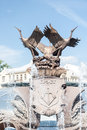 Exterior of fountain on independance square minsk belarus Royalty Free Stock Photo