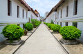 Exterior garden of wat sutat thai buddhism temple bangkok thaila thailand Stock Photos