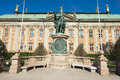 Exterior of gustaf vasa statue in front of the house of nobility in stockholm sweden april Royalty Free Stock Photo