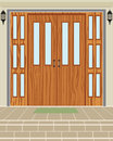 Exterior house door wood vector background Royalty Free Stock Photo