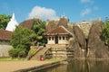 Exterior of the Isurumuniya rock temple in Anuradhapura, Sri Lanka. Royalty Free Stock Photo