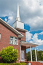 Exterior of modern american church with contemporary architecture Royalty Free Stock Photos