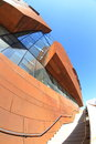 Exterior of modern building architectural design the a fisheye lens perspective Royalty Free Stock Photos