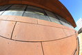 Exterior of modern building architectural design the a fisheye lens perspective Stock Photography