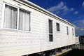 Exterior of modern caravan on trailer park in england Royalty Free Stock Photos