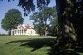 Exterior of Mt. Vernon, Virginia, home of George Washington Royalty Free Stock Photo