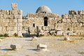 Exterior of the old Umayyad Palace at the roman citadel hill in Amman, Jordan. Royalty Free Stock Photo