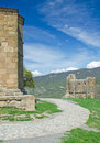 Exterior of ruins jvari which is a georgian orthodox monastery the th century Royalty Free Stock Image