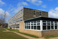 Exterior of school building secondary scarborough england Royalty Free Stock Images