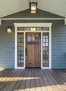 Exterior shot of a Wooden Front Door Royalty Free Stock Photo