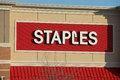 Exterior sign of Staples Office Retail Location Royalty Free Stock Photo