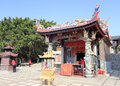 Exterior of small folk beliefs place earth temple in the village xiaodeng island amoy city china Stock Images