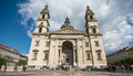 Exterior of st stephen s basilica in budapest hungary april on april the is named honor Royalty Free Stock Image