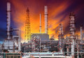 Exterior structure of oil refinery plant in petrochemical indust industry Royalty Free Stock Photos