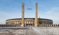 Exterior view of berlin s olympia stadium built for the summer olympics in berlin germany february Stock Photos