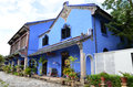 Exterior view of cheong fatt tze mansion penang malaysia nov the or blue as it is often Stock Photo