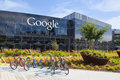 Exterior view of a Google headquarters building. Royalty Free Stock Photo