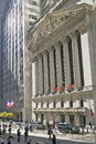 Exterior view of new york stock exchange on wall street new york city new york Stock Photos