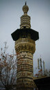 Exterior view to minaret of the mosque at old Damascus, Syria Royalty Free Stock Photo