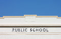 Exterior of a Vintage Public School Building Royalty Free Stock Photo