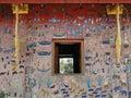 Exterior wall mosaic at a temple in luang prabang laos Stock Images