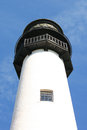 Exterior white lighthouse blue sky background Royalty Free Stock Photo