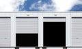 Exterior of white storage unit Royalty Free Stock Photo