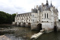 Exteriors chateau de chenonceau vallee de la loire france a view in chenonceaux july and architectural details of july in Royalty Free Stock Photos