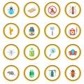 Exterminator icons circle