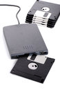 External floppy disk reader Stock Image