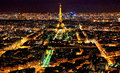 External general view of Paris in the night