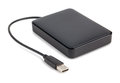 External hard disk with cable Royalty Free Stock Photo
