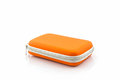 External hard drive carrying case. Bags for external hard drive. Royalty Free Stock Photo