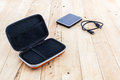 External hard drive carrying case. Royalty Free Stock Photo