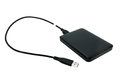 External hard drive on white background Royalty Free Stock Photo