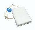 External harddisk isolate on a white background Royalty Free Stock Photography