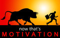 External motivation getting motivated by an source Royalty Free Stock Photo