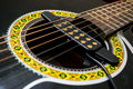 External pickup for acoustic guitar Royalty Free Stock Photo