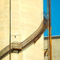 External stairs Î¿n an old abandoned cement factory Stock Photography