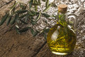 Extra olive oil flavored with rosemary Royalty Free Stock Photo