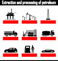 Extraction and processing of petroleum vector Stock Image