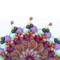 Extracto colorido con el remolino waves eps Imágenes de archivo libres de regalías