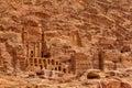 Extraordinary royal tombs in petra jordan Stock Photography