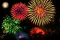 Extravagance de feux d'artifice Photos stock