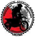 Extreme adventure emblem vector format Stock Photos