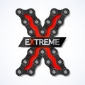 Extreme bike chain illustration Stock Images