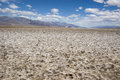 Extreme climate at Devil`s Golf Course in Death Valley, California Royalty Free Stock Photo