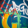 Extreme close up of graffiti on concrete wall Royalty Free Stock Photo